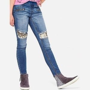 Justice sequined jegging